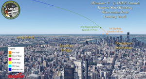 launch trajectory from Empire State