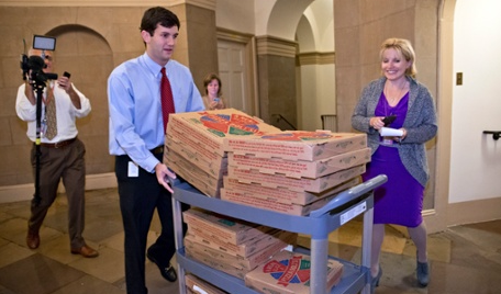 We Cut Your Food Stamps. We Put You Out Of Work, We're Crashing Your 401K's, Just So Boehner Treats Us To A Pizza Party, Which You Are Paying For, BTW... Ha, Ha, Ha