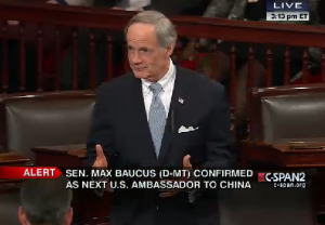 Senator Carper in Senate